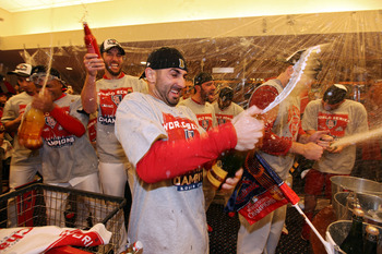 There was lots of celebrating when the Cardinals won the World Series.