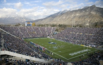 Lavell Edwards Stadium, home of BYU Football, is breathtaking.