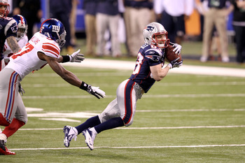 Wes Welker has caught 554 passes in five seasons with the Patriots.