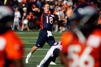 Broncos quarterback Peyton Manning continues to climb up the NFL passing charts.