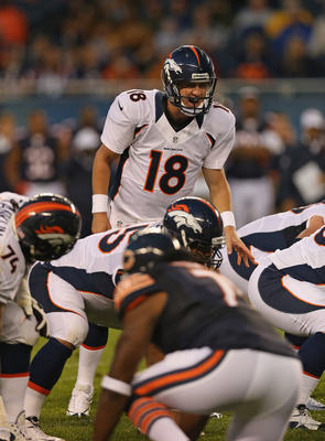 Peyton Manning saw his first game action since January of 2011 when he faced the Bears in Chicago
