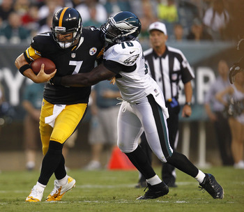 The Steelers struggled to protect quarterback Ben Roethlisberger vs. the Eagles