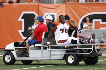 Bengals' left guard Travelle Wharton could be lost for the season