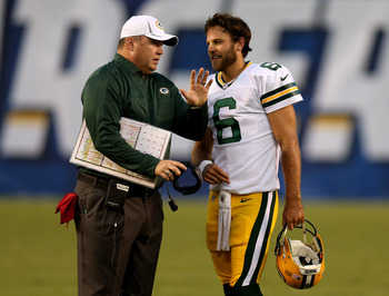 Packers' head coach Mike McCarthy is grooming Graham Harrell for the backup quarterback job