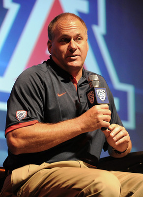 Rich Rodriguez at Pac-12 media day