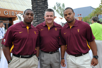 Coach Graham along with Cameron Marshall and Brandon Magee