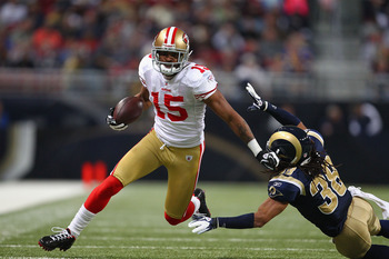 Michael Crabtree led the 49ers in receptions in 2011