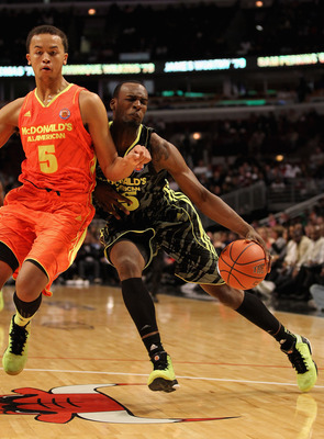 Anderson guarding Muhammad in the McDonald's All-American Game