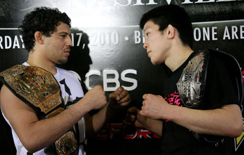Gilbert Melendez and Shinya Aoki are two of the best lightweights outside the UFC.