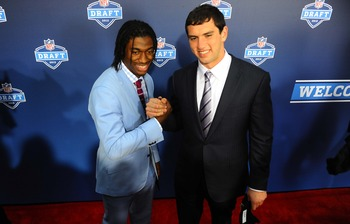 Robert Griffin III (left) and Andrew Luck