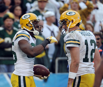 Wide receiver Greg Jennings (left) and Aaron Rodgers