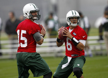 Tim Tebow (left) and Mark Sanchez