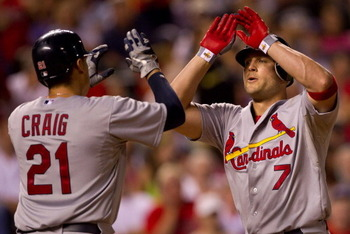 The St. Louis Cardinals are 2.5 games from a Wild Card playoff spot.