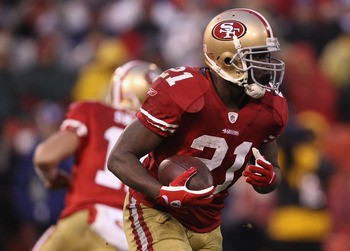 Frank Gore is still the lead running back, but he'll have plenty of help with the addition of LaMichael James and Brandon Jacobs