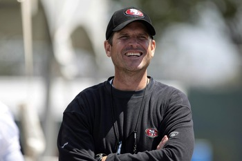 Jim Harbaugh enters his second season with the 49ers