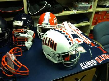 Helmet Options Presented at Recruiting Table
