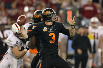 Weeden operated out of a spread offense at Oklahoma State.