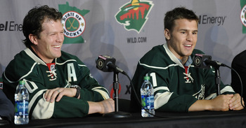 Newly added Ryan Suter and Zach Parise hope to push Minnesota into the playoffs.