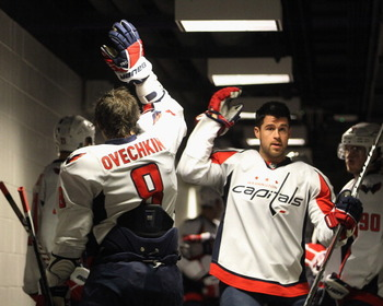 """Greener!  Ey yo!"" ""Oh, too slow, Ovi."""