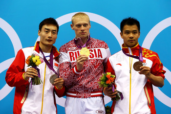 As two Chinese divers finished on the podium, it was Ilya Zakharov that won the ultimate prize- a gold medal.