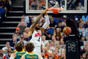 Tyson Chandler played just nine minutes against Australia, gathering six points and two rebounds.