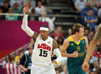 Melo contributed 17 points and four rebounds off the bench for Team USA.