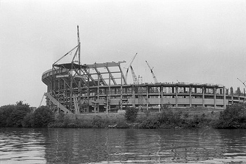 Picture of Three Rivers Stadium's construction, courtesy of flickriver.com