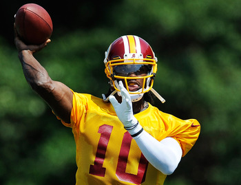 Robert Griffin III is going to display his cannon during his rookie season.