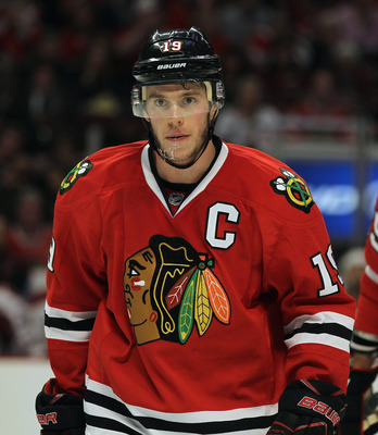 Captain Serious takes responsibility for the Blackhawks' consistency on the ice.