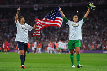 Hope Solo and Carli Lloyd