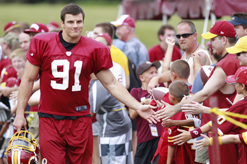 Ryan Kerrigan doesn't look like a rookie anymore in his second year.