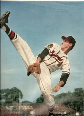 Warren Spahn was a 363-game winner. Photo from danhoard.mlblogs.com