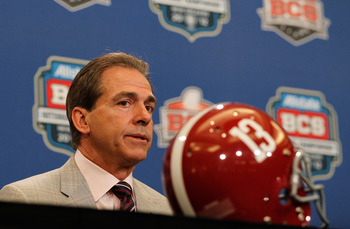 "Nick Saban's Crimson Tide won't ""roll"" the Wolverines."