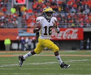 Denard Robinson won the Big Ten's MVP award in 2010.