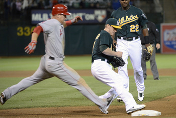 Just like the Wild Card standings, the A's are there first over the Angels.