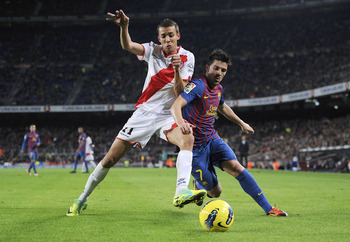 David Villa: FC Barcelona VS Rayo Vallecano 2011