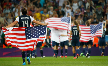 U.S. women's soccer won its third consecutive gold.