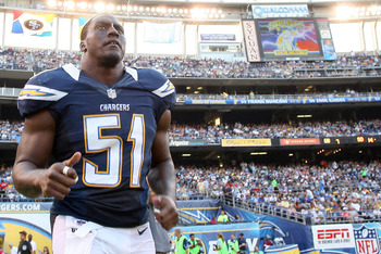 Takeo Spikes will be an anchor for the Chargers Defense