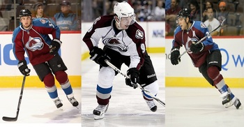 Ryan O'Reilly (left), Matt Duchene (center) and Paul Stastny (right) are the corps of the Avalanche forwards. They will need to have great seasons for this team to make the playoffs.
