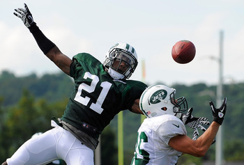 Julian Posey during New York Jets Training Camp.
