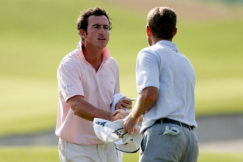Gonzalo Fernandez-Castano tees it up with Joost Luiten today