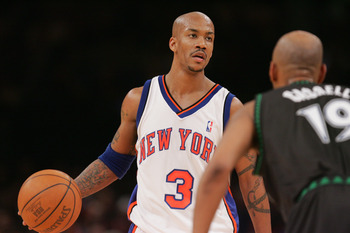 Here's Marbury playing against the team he should have been playing for.