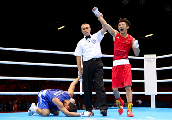 Shiming Zou took gold in the men's light-flyweight division.