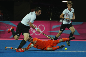 The German men's field hockey team won the gold medal by defeating the Netherland, 2-1.