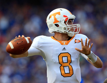 Tennessee quarterback Tyler Bray will look to tame the SEC East's Tigers in the two schools' historic first ever meeting.