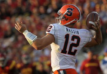 Syracuse quarterback Ryan Nassib is a throwing threat who has plenty of experience for the Orange.