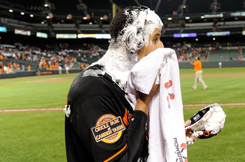 A pie in the face courtesy of Adam Jones means Manny Machado has arrived as an Oriole