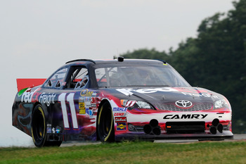 Denny Hamlin finished 34th at Watkins Glen