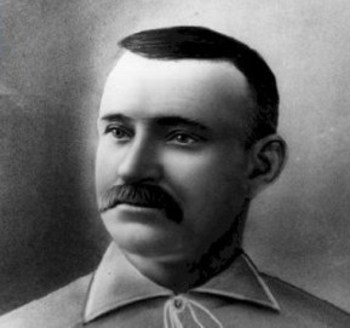 Charles Radbourn amassed 59 wins as a pitcher in the 1884 season, a mark that will never be broken.  Picture courtesy of the MLB Hall of Fame website, artist unknown.