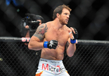 August 4, 2012; Los Angeles, CA, USA; Ryan Bader during UFC on FOX at Staples Center. Mandatory Credit: Gary A. Vasquez-US PRESSWIRE